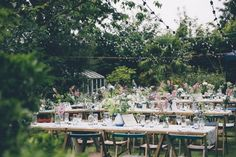 Yay for this festive Outdoor Garden Wedding at home! See more here: Love Filled Outdoor Garden Wedding, Cornwall | Confetti Daydreams ♥  ♥  ♥ LIKE US ON FB: www.facebook.com/confettidaydreams  ♥  ♥  ♥ #Wedding #GardenWedding #OutdoorWedding #RealBride