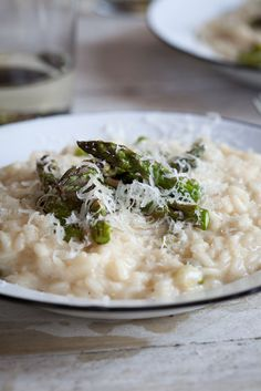 Grilled Asparagus & Lemon Risotto | Simply Delicious #Recipe #Dinner #Vegetarian