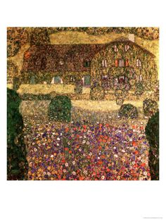Country House by the Attersee, circa 1914 Giclee Print by Gustav Klimt at Art.com