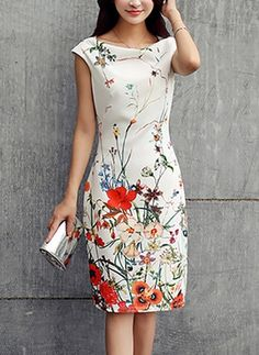 Cowl Neck Floral Printed Bodycon Dress - Was And Now - online shopping with discounted prices Elegant Dresses, Beautiful Dresses, Casual Dresses, Summer Dresses, Women's Fashion Dresses, Dress Outfits, Cheap Dresses Online, Dress Online, Vestidos Sexy