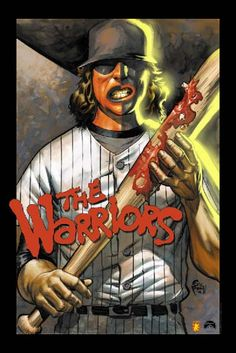 Warriors.... The baseballers going after the warriors at an El under pass