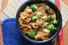 This recipe for spicy Thai noodles has been one of my most pinned and viewed recipes. I still make this regularly, but my cilantro hating husband requested I change that part of the sauce. I usuall...