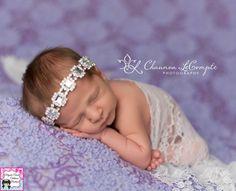 A personal favorite from my Etsy shop https://www.etsy.com/listing/221036090/christening-rhinestone-headband-newborn