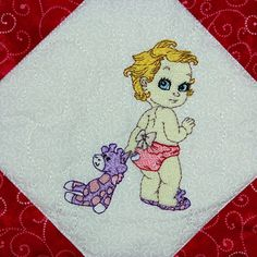 Vintage Baby Girls with Mylar - Machine Embroidery design collection featuring Mylar Embroidery