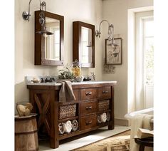 Benchwright Double Sink Console | Pottery Barn