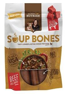 a rachael ray nutrish soup bones dog treats real beef barley flavor 6 bones 1