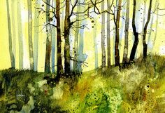 Green heart copse 9.5 x 6.5 inches 2012