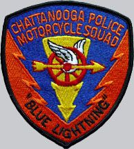 Worn by members of the Chattanooga Police Department's Blue Lightning motorcycle unit in the seventies.