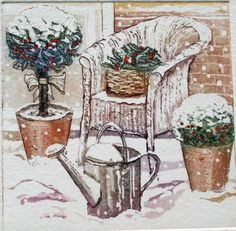Snowy+Garden+etching+with+aquatint+watering+by+SallyWinterEtchings,+£41.72