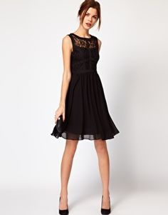 Enlarge Warehouse Lace Bodice Dress-- sooo pretty