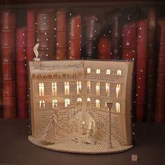 amazing art The Little Match Girl Handmade Book Sculpture By Karine Diot Folded Book Art, Paper Book, Book Folding, The Little Match Girl, Book Crafts, Paper Crafts, Arte Pop Up, Altered Book Art, Book Sculpture