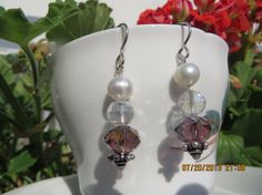 Lovely Faceted Crystal Fresh water pearl and Faceted by bling33, $15.00