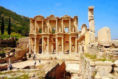 Library of #Celsius in #Ephesus is the way most famous library in #Turkey