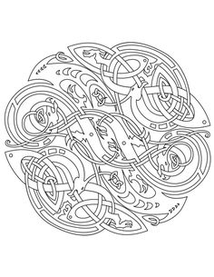 Irish Coloring Pages Celtic Mandalas Art Adult