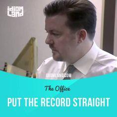 Put the record straight перевод