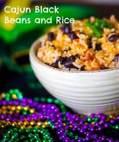 Cajun Black Beans and Rice - Carrie's Experimental Kitchen #mardigras