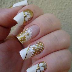 Beautiful Nail Designs, Beautiful Nail Art, Fabulous Nails, Perfect Nails, Fancy Nails, Trendy Nails, Bride Nails, Wedding Nails, Hot Nails