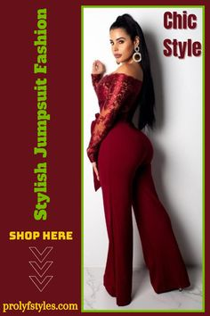 This classy long sleeve jumpsuit is the perfect formal outfits for women special occasions fashion. This stylish women jumpsuit is a chic fashion style that is great for a wedding guest outfit for women. Add this stylish jumpsuit for women to your women's formal style wardrobe. Wear this elegant embroidery jumpsuit for a formal date night outfit for women. Fashion Outfit for women is a cute outfit idea for women's fashion. women's jumpsuits casual classy, women's fashion chic style. #fashion Jumpsuits For Women Formal, Formal Wear Women, Jumpsuit Dressy, Cocktail Outfit, Formal Outfits, Fashion Outfits, Style Fashion, Formal Fashion, Classy