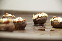 Bacon & Goat Cheese Stuffed Mushrooms