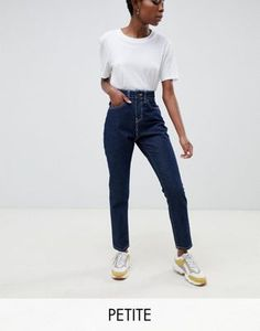 outlet store edde4 b085c DESIGN - Petite - Farleigh - Smalle mom jeans met hoge taille in blauw    Outfits   Pinterest   Mom jeans, Slim mom jeans och Jeans