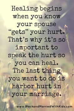 """Learn to Say These Words and Heal Your Marriage - Most people don't like exposing their wounds, not even to their spouses. We fear our weaknesses will be used against us. So, instead of saying, """"That hurt me,"""" we find ways to mask the hurt and pretend we aren't in pain. Full article: http://bmwk.me/K60ZLj"""