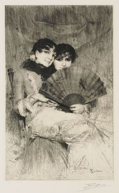 ANDERS ZORN, 1860-1920  The Cousins, 1883