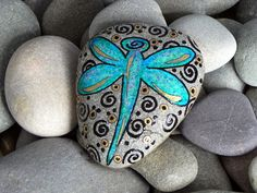 Dragonfly Blessings / Painted Rock