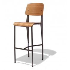 Jean Prouve furniture from Industry West will bring a Mid Century flair to your decor. We carry a variety of Prouve Y based bar stools to match any decor. Counter Stools, Bar Stools, Bright Painted Furniture, Lab, Loft Furniture, Modern Bar, Bar Chairs, Desk Chairs, Egg Chair