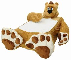 Fancy - Fuzzy Brown Bear Plush Bed Frame and Bedding for Kids and Toddlers | Incredibeds | $159