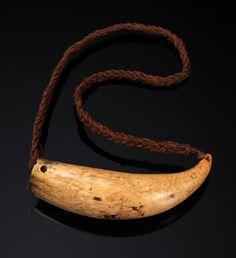 Presentation Tooth, Tabua. FIJI ISLANDS. Whale tooth and coconut fiber sennit