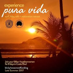 """Surfing rugged coastlines. Rappelling through waterfalls. Whitewater rafting. Rainforest hiking. Cooking local foods with your homestay family. Learning new skills and hanging with new friends. All this and more in our 8-day Costa Rica retreat! Joinus and your fellow #outdoorwomen for our summer retreat with @outwardboundcostarica! Interested? Click on the link in our bio scroll to the bottom on mobile or to the right on desktop and select """"8-day Costa Rica Retreat""""! (Click the photo to see…"""