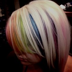 Clean placements of colors to accent her style
