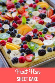 Dessert Party, Pizza Dessert, Pizza Fruit, Flan Dessert, Fruit Party, Fruit Flan Recipe, Healthy Fruit Tart Recipe, Tart Recipes, Fruit Recipes