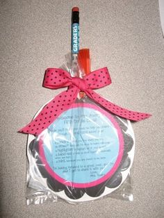 Make your own back to school survival kits for students using these ready-made gift tags!...