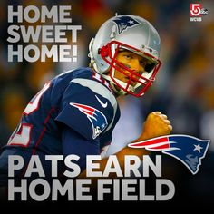 The road to the Super Bowl will run through Foxborough!  Thanks to a Broncos loss, Tom Brady and the New England Patriots have earned home field advantage throughout the NFL playoffs!   Share your excitement Patriots fans!