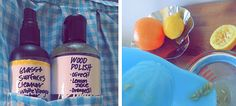 Homemade cleaning products by Lush.  A lot of store bought cleaning products have been shown to have harmful ingredients.