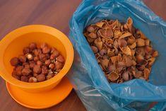 Aproveitar cascas de frutos secos
