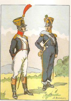 French; 18th Line Infantry, Grenadier Officer, 1812 & Voltigeur Officer, 1813