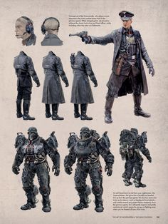 Armor Concept, Concept Art, Wolfenstein The New Order, Character Concept, Character Design, The New Colossus, John Rambo, Game Wallpaper Iphone, German Soldiers Ww2