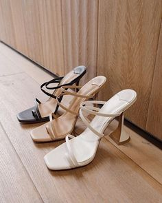 Tony Bianco Stellar Milk Capretto Heels in 2020 Fancy Shoes, Pretty Shoes, Cute Shoes, Me Too Shoes, High Heels, Shoes Heels, Strappy Sandals, Pumps, Aesthetic Shoes