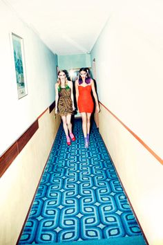 i love carpet patterns.  this photo is retro cool!