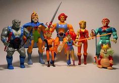 ThunderCats action figures. I so wanted these! I watched thunder cats and he-man and shera all the time.