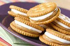 Marshmallow & Peanut Butter Snack recipe - must try.  Sounds like fluffernutter sandwich on a Ritz.  Brilliant!