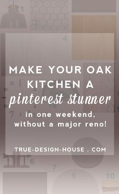 When you are not ready, willing or able to do a complete renovation of your  oak kitchen, the next best thing to do is transform it with pure style.  Yes, it can look absolutely amazing! If you can paint the walls, add a  rug or two and accessorize until your heart explodes, your kitchen can go  from 'Sad & Outdated' to 'Pinterest Stunner' in a weekend!  Level one:  Clear away all the clutter, banish accessories that are too beige or  orange, and give yourself a clean slate.   Choose…