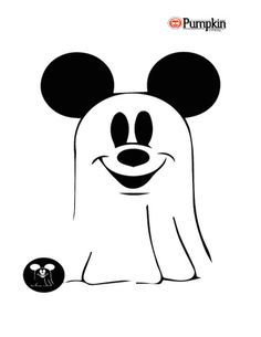 Mickey as a vampire template for carving pumpkins mickey for Mickey mouse vampire pumpkin template