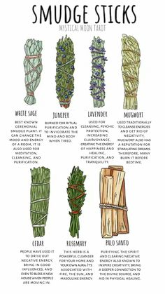Smudge sticks, various ways to cleanse your space, your spirit, your mind, and body.