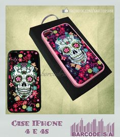 Case Caveira Mexicana Preto - iPhone 4 e 4S