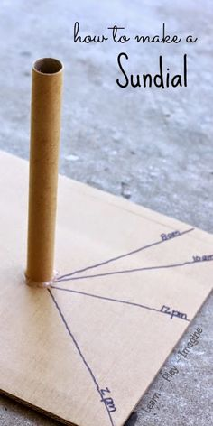 How to make a sundial - kindergarten sun study