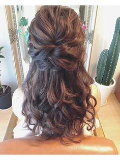 Decor - Just another WordPress site Curled Hairstyles, Straight Hairstyles, Wedding Hairstyles, Wedding Hair Up, Bridal Hair, Mother Of The Bride Hair, Hair Arrange, Hair Setting, Beautiful Long Hair