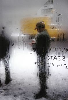 Saul Leiter I'm absolutely in love with these photos. The steamy glass and the human figures of every day New Yorkers. Mundane yet poetic